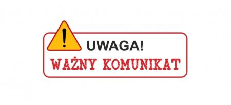 UWAGA! CZĘŚCIOWE ZAWIESZENIE ZAJĘĆ!!!